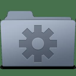 Setting Folder Graphite icon