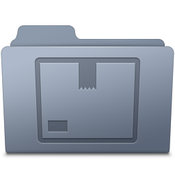 Stock Folder Graphite icon