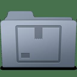 Stock Folder Graphite icon