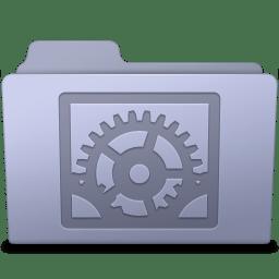 System Preferences Folder Lavender icon