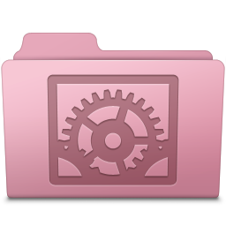 System Preferences Folder Sakura icon