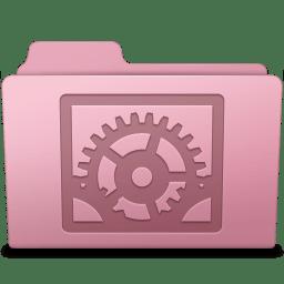 System Preferences Folder Sakura icon