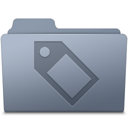 Tag Folder Graphite icon