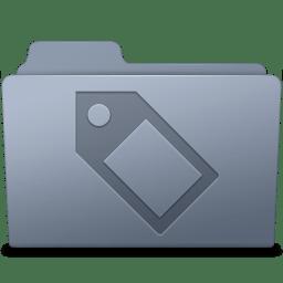 Tag Folder Graphite icon