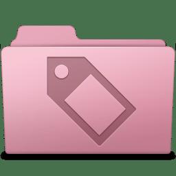 Tag Folder Sakura icon