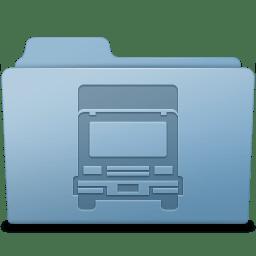 Transmit Folder Blue icon
