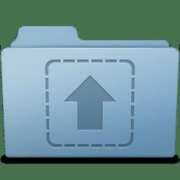 Upload Folder Blue icon
