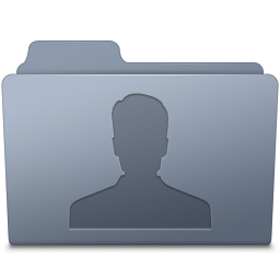 Users Folder Graphite icon