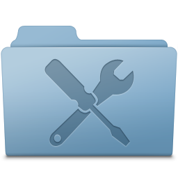 Utilities Folder Blue icon