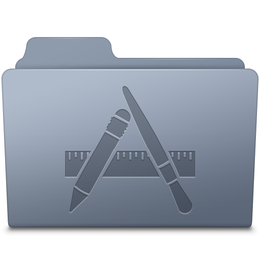 Applications Folder Graphite icon