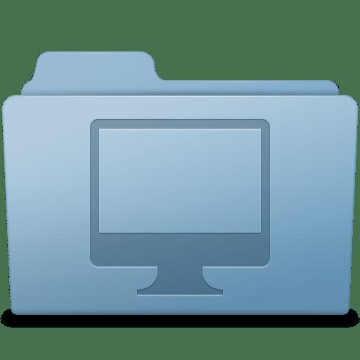 Computer-Folder-Blue icon