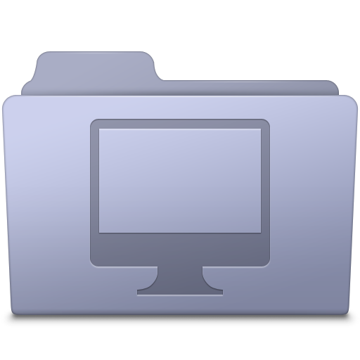 Computer Folder Lavender icon