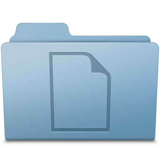 Documents Folder Blue icon