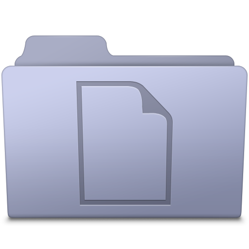 Documents Folder Lavender icon