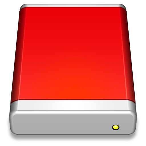 External-Drive-Red icon