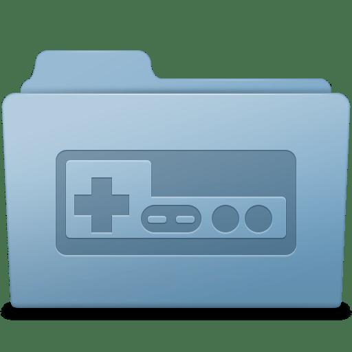 Game Folder Blue icon