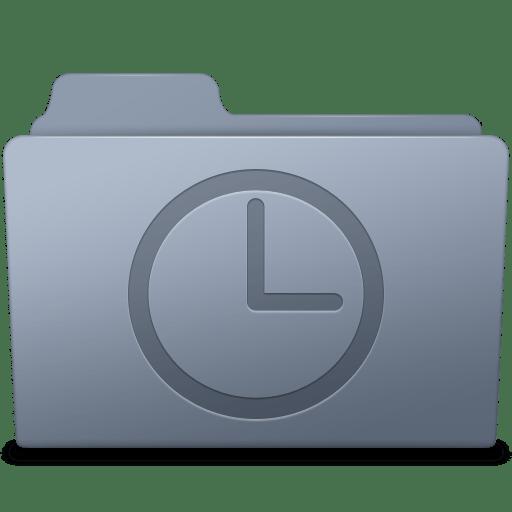 History-Folder-Graphite icon