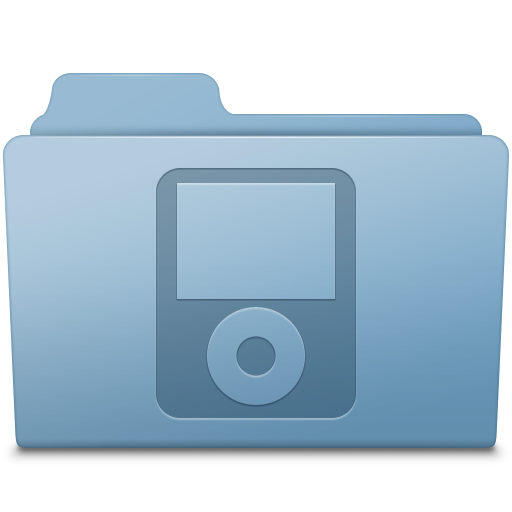 IPod-Folder-Blue icon