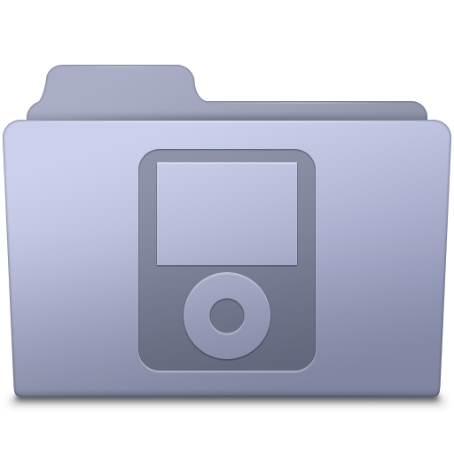 IPod Folder Lavender icon