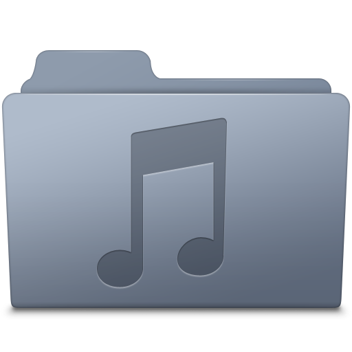 Music-Folder-Graphite icon