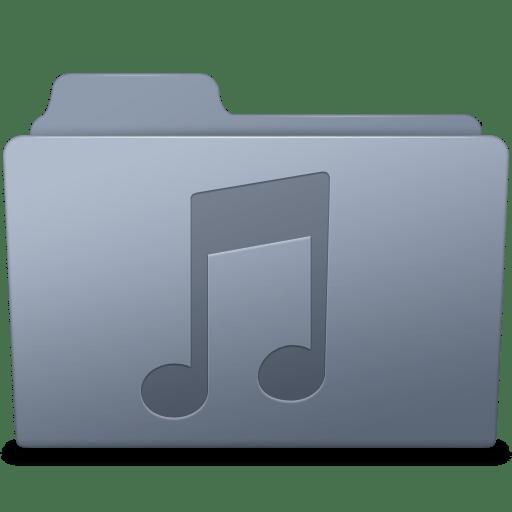 Music Folder Graphite icon