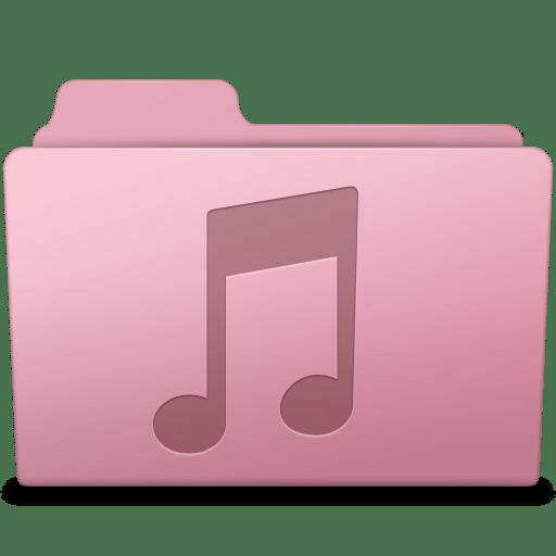 Music Folder Sakura Icon Smooth Leopard Iconset Mcdo