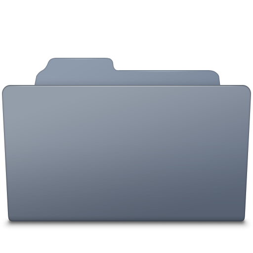 Open Folder Graphite icon