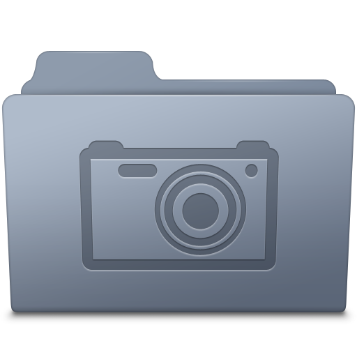 Pictures Folder Graphite icon
