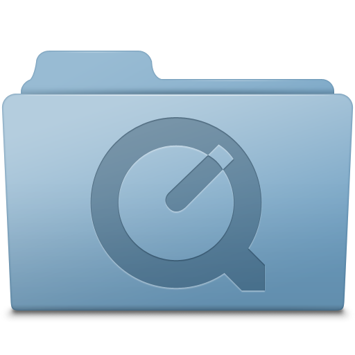 QuickTime Folder Blue Icon | Smooth Leopard Iconset | McDo