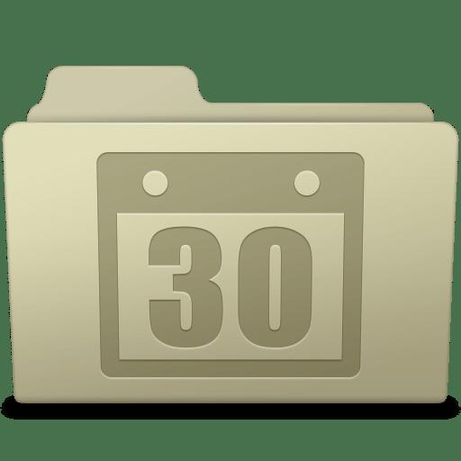 Schedule Folder Ash icon