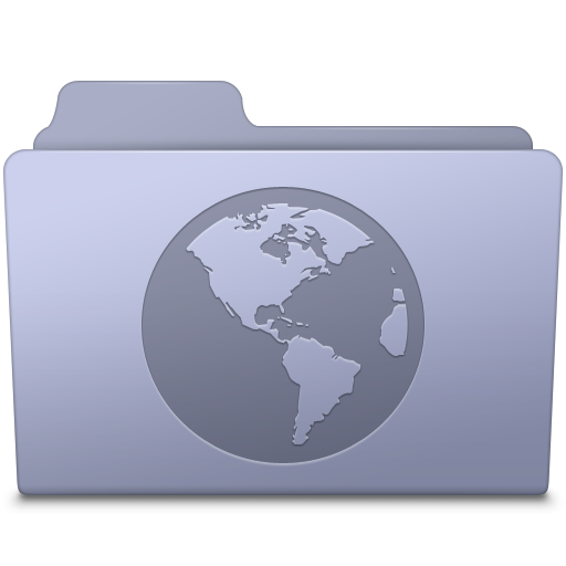 Sites Folder Lavender icon