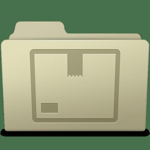 Stock Folder Ash Icon ...
