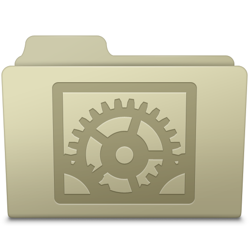 System Preferences Folder Ash icon