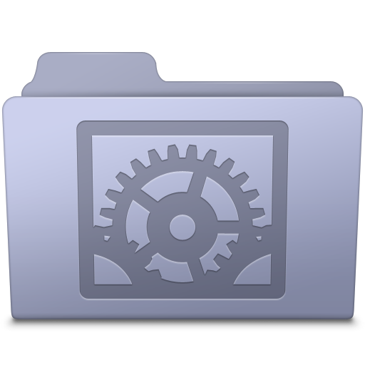 System Preferences Folder Lavender icon