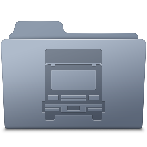 Transmit Folder Graphite icon