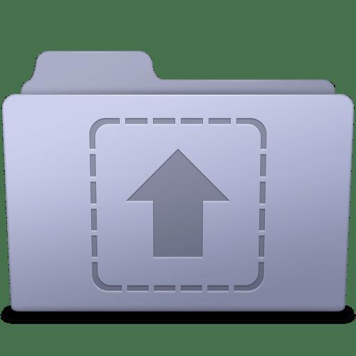 Upload-Folder-Lavender icon