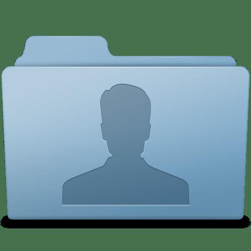 Users Folder Blue icon