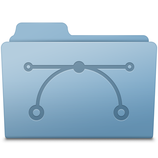 Vector Folder Blue icon