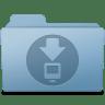 Downloads-Folder-Blue icon