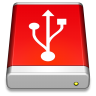 USB-Drive-Red icon