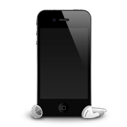 iPhone 4G headphones shadow icon
