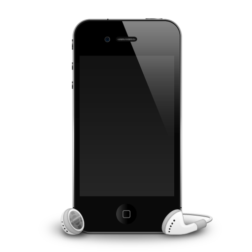 IPhone-4G-headphones-shadow icon