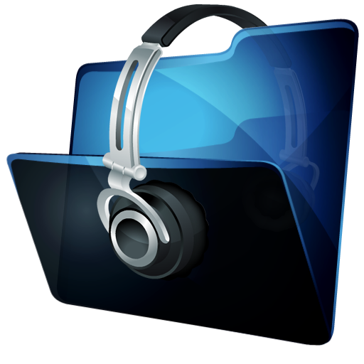 folder music icon hydropro v2 iconset media design
