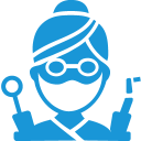 Dentist blue icon