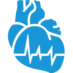 Cardiology blue icon