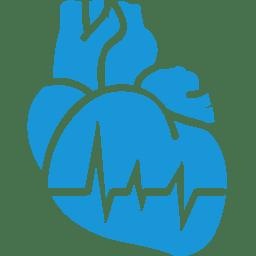 Cardiology blue icon