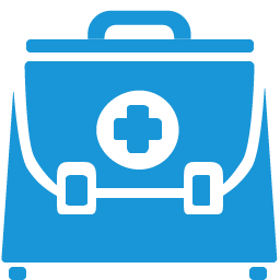 Doctor Briefcase blue icon