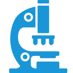 Microscope blue icon
