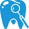 Tooth-blue icon