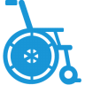 Wheelchair-blue icon